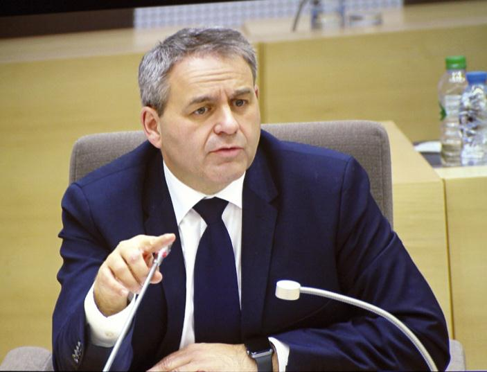 Xavier Bertrand dans ses fonctions de président.