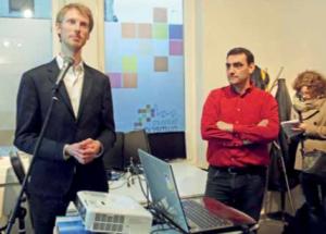 Pierre Lecointre et Vincent Demortier, les deux cofondateurs du fablab.