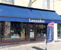 La devanture du magasin Leonidas à Creil