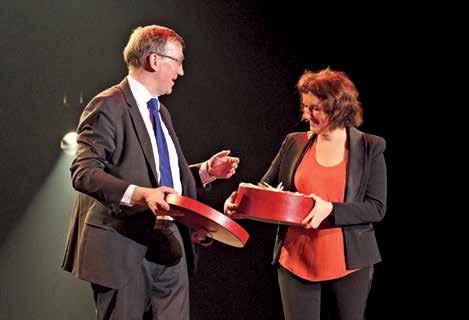 Frédéric Tilly, président du conseil régional de l'ordre des experts-comptables Picardie-Ardennes, a remercié l'humoriste Anne Roumanoff pour sa présence.