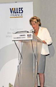 Caroline Cayeux, sénatrice-maire de Beauvais, a accueille le 26e Congrès des Villes de France dans sa ville.