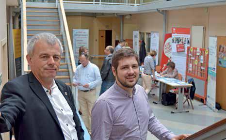 Jean-Pierre Blimond, président du Club des entrepreneurs, et Paul Hue, adhérent depuis un an.